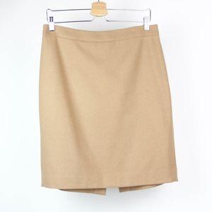 J Crew Womens Skirt The Pencil Skirt Wool Blend